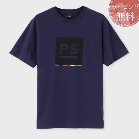 ポールスミス Tシャツ メンズ PS ビッグロゴ プリント パープル M Paul Smith