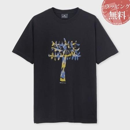 ポールスミス Tシャツ メンズ Tree グラフィック プリント ブラック XXL Paul Smith