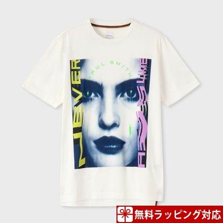ポールスミス Tシャツ メンズ フォトグラフィック プリント ホワイト M Paul Smith