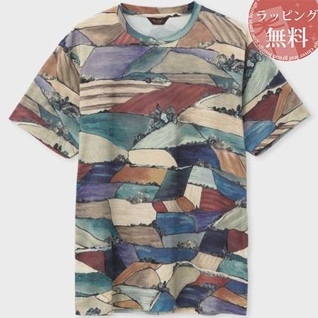 ポールスミス Tシャツ メンズ ソーンクリフデイルズプリント ベージュ M Paul Smith