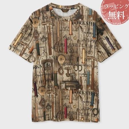 ポールスミス Tシャツ メンズ ウィロームーアミルズプリント ブラウン XL Paul Smith