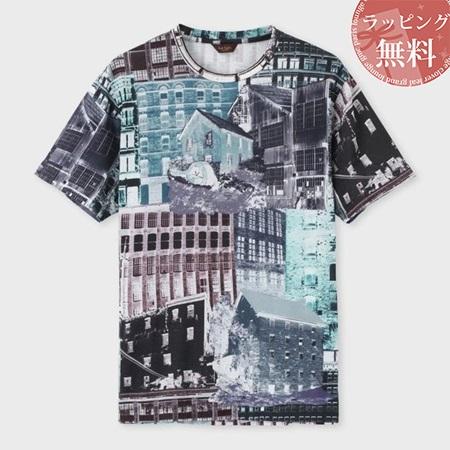 ポールスミス Tシャツ メンズ ヨークシャーミルズプリント ブルー M Paul Smith