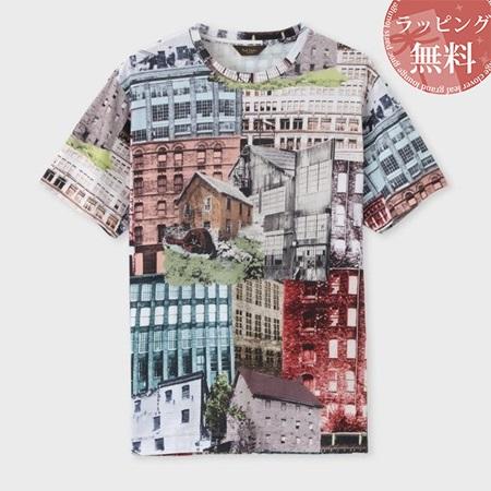 ポールスミス Tシャツ メンズ ヨークシャーミルズプリント ベージュ S Paul Smith