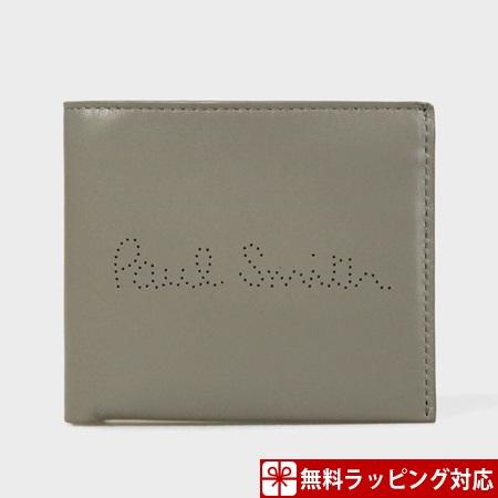 ポールスミス 財布 メンズ 折財布 二つ折り レシートストーリー ラムレザー 2つ折り財布 グレー Paul Smith