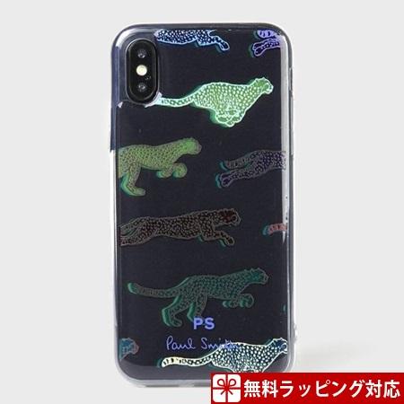 ポールスミス スマホケース チーター iphoneケース iPhoneX、Xs ブラック Paul Smith