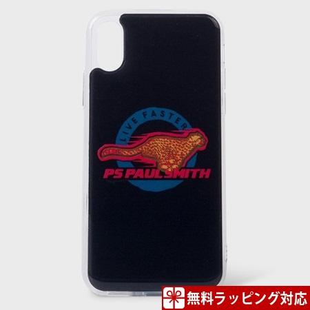 ポールスミス スマホケース Live Faster iphoneケース iPhoneX、Xs ネイビー Paul Smith