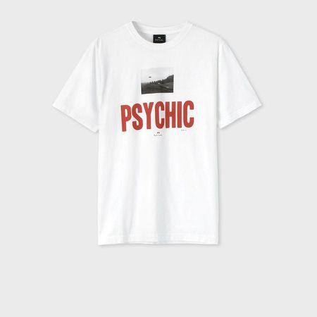 ポールスミス Tシャツ PSYCHIC プリント ホワイト XL Paul Smith ポール スミス