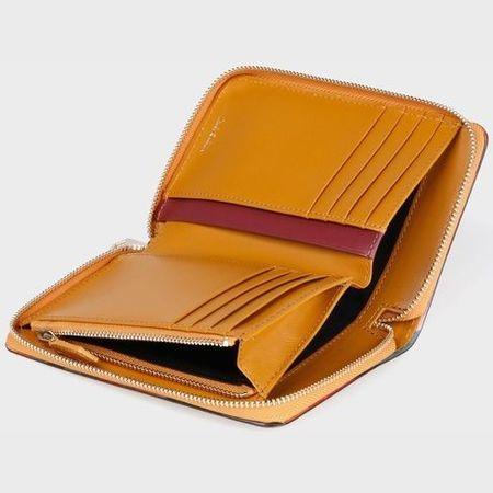 ポールスミス 財布 レディース 折財布 スワールトリム 2つ折り財布 イエロー Paul Smithn0OwP8k