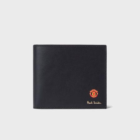 ポールスミス 折財布 Paul Smith & Manchester United 2つ折り財布 ブラック Paul Smith ポール スミス