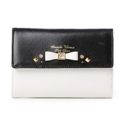 サマンサタバサプチチョイス バイカラーリュシー 折財布 ブラック