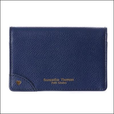 サマンサタバサプチチョイス プチハートシリーズ 名刺入れ カードケース ネイビー