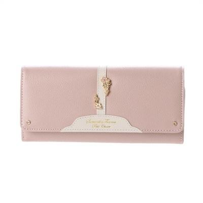 サマンサタバサプチチョイス ベルトフラワーシリーズ 長財布 ピンク