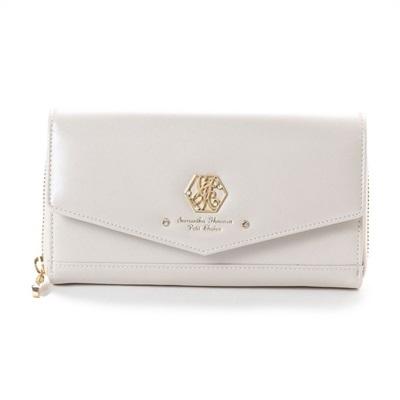 サマンサタバサプチチョイス オリジナルプレート ウォレットバッグ お財布ショルダー ホワイト