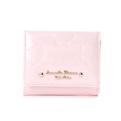 サマンサタバサプチチョイス ペココレクション エナメル型押し ミニ財布 ピンク