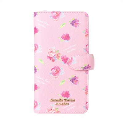 サマンサタバサプチチョイス フラワープリントシリーズ iPhone8Plusケース ピンクベージュ