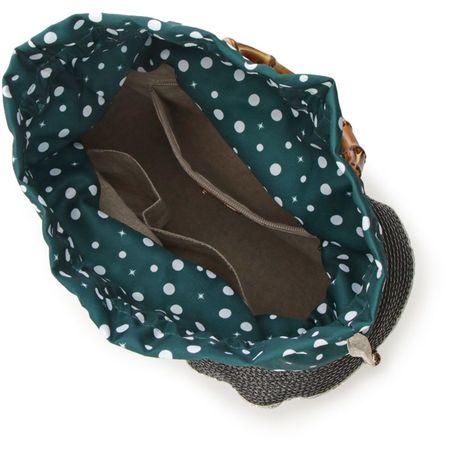 サマンサタバサ バッグ ハンドバッグ 巾着かごバッグ 小 ドット ブラック Samantha Thavasa サマンサ タバサ