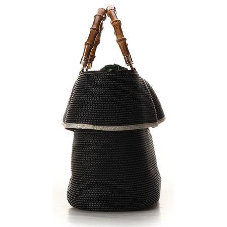 サマンサタバサ バッグ ハンドバッグ 巾着かごバッグ 大 ドット ブラック Samantha Thavasa サマンサ タバサ