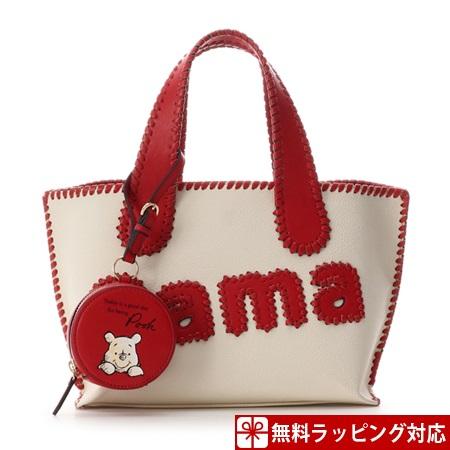 サマンサタバサ バッグ トートバッグ サマタバトートバッグ 小 くまのプーさんコレクション レッド Samantha Thavasa サマンサ タバサ