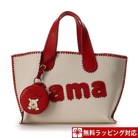 サマンサタバサ バッグ トートバッグ サマタバトートバッグ 大 くまのプーさんコレクション レッド Samantha Thavasa サマンサ タバサ