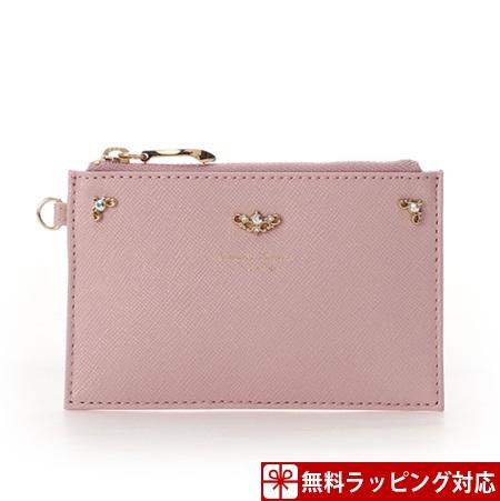 サマンサタバサ ピンク カードケース グリッターラメレザー SamanthaThavasaPetitChoice マルチケース