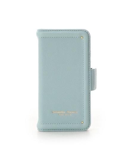 サマンサタバサ モバイルケース iphone7-8 シンプルステッチ ライトブルー SamanthaThavasaPetitChoice サマンサ タバサ プチチョイス
