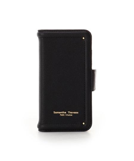 サマンサタバサ モバイルケース iphone7-8 シンプルステッチ ブラック SamanthaThavasaPetitChoice サマンサ タバサ プチチョイス