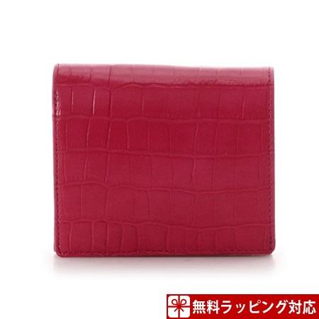 サマンサタバサ 財布 折財布 クロコ型押し折財布 BOX型コインケース ピンク SamanthaThavasaPetitChoice サマンサ タバサ プチチョイス