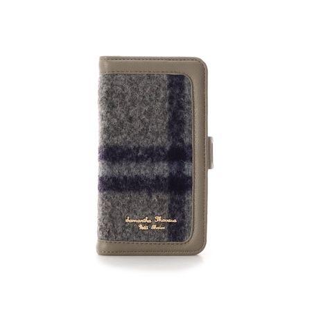 サマンサタバサ モバイルケース マイカフォン iPhone XR-11 グレー SamanthaThavasaPetitChoice サマンサ タバサ プチチョイス
