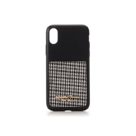 サマンサタバサ モバイルケース ポケット付iPhoneケース 千鳥 X-Xs ブラック SamanthaThavasaPetitChoice サマンサ タバサ プチチョイス