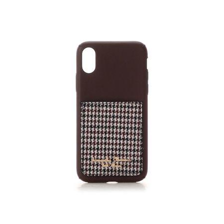 サマンサタバサ モバイルケース ポケット付iPhoneケース 千鳥 X-Xs ブラウン SamanthaThavasaPetitChoice サマンサ タバサ プチチョイス