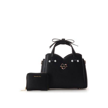 サマンサタバサ ハンドバッグ ホリデーコレクション ミニ財布付バッグ ブラック Samantha Vega サマンサ ベガ