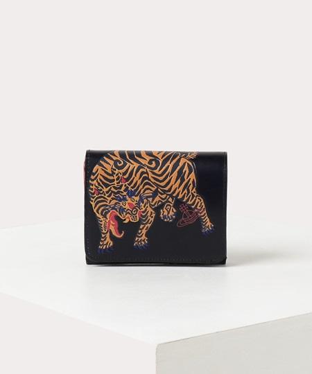 ヴィヴィアンウエストウッド 折財布 ファイティングタイガー 二つ折りミニ財布 ブラック Vivienne Westwood ヴィヴィアン ウエストウッド