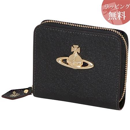 ヴィヴィアンウエストウッド 財布 折財布 二つ折り ラウンドジップ レディース EXECUTIVE ブラック Vivienne Westwood ヴィヴィアン ウエストウッド