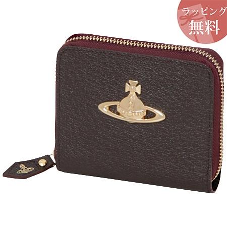 ヴィヴィアンウエストウッド 財布 折財布 二つ折り ラウンドジップ レディース EXECUTIVE ダークブラウン Vivienne Westwood ヴィヴィアン ウエストウッド