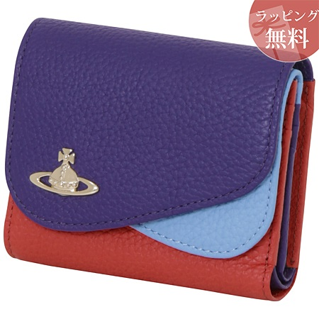 ヴィヴィアンウエストウッド 財布 折財布 二つ折り レディース ダブルフラップ ブルー Vivienne Westwood ヴィヴィアン ウエストウッド