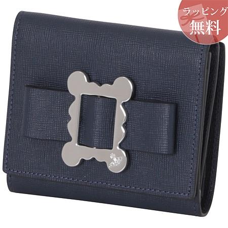 ヴィヴィアンウエストウッド 財布 折財布 二つ折り レディース メタルフレーム ネイビー Vivienne Westwood ヴィヴィアン ウエストウッド