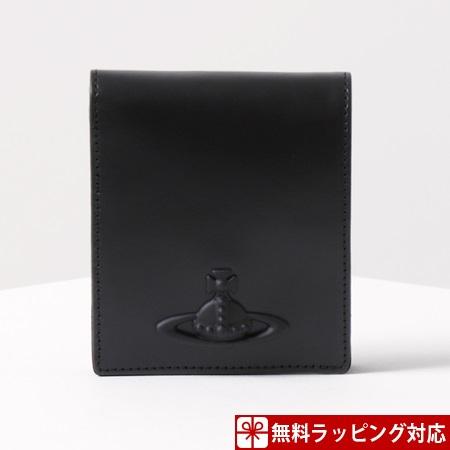 ヴィヴィアンウエストウッド 財布 メンズ 折財布 二つ折り ラバーカラーORB ブラック Vivienne Westwood