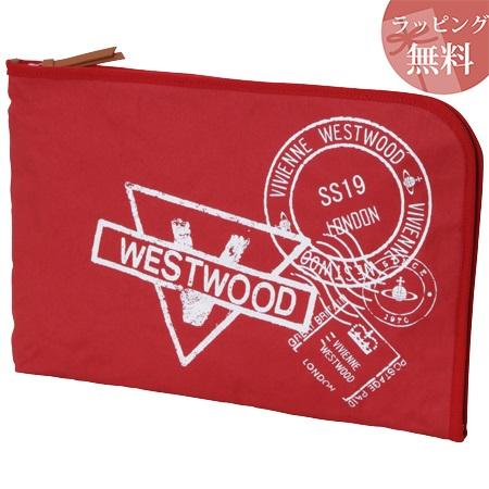 ヴィヴィアンウエストウッド バッグ クラッチバッグ メンズ スタンプ レッド Vivienne Westwood ヴィヴィアン ウエストウッド