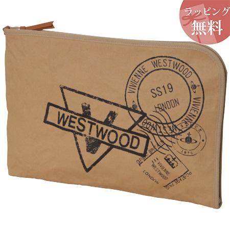 ヴィヴィアンウエストウッド バッグ クラッチバッグ メンズ スタンプ キャメル Vivienne Westwood ヴィヴィアン ウエストウッド