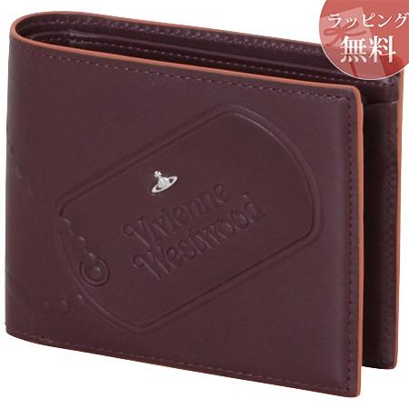 ヴィヴィアンウエストウッド 財布 折財布 二つ折り メンズ ドッグタグ ワインレッド Vivienne Westwood ヴィヴィアン ウエストウッド