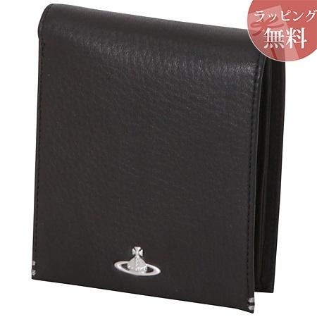 ヴィヴィアンウエストウッド 財布 折財布 二つ折り メンズ フィール ブラック Vivienne Westwood ヴィヴィアン ウエストウッド