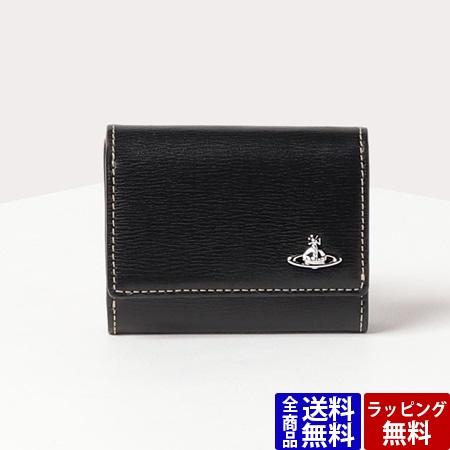 ヴィヴィアンウエストウッド 財布 メンズ 折財布 インサイドカラー 三つ折り財布 ブラック Vivienne Westwood ヴィヴィアン ウエストウッド