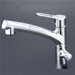 KVK 水栓金具【KM5061N】浄水器専用シングルレバー式シャワー付混合水栓