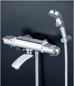 KVK 水栓金具【KF890S2】サーモスタット式シャワー(ワンストップシャワー付)