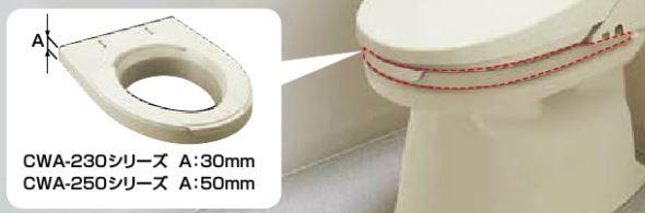 ###INAX シャワートイレ付補高便座 KBシリーズ【CWA-250KB23】KB23 50mmタイプ
