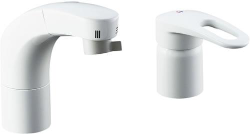▽INAX LIXIL 水栓【SF-800SNU】ホース引出式シングルレバー洗髪シャワー混合水栓 寒冷地仕様