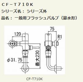 ▽INAX LIXIL 【CF-T710K】一般用フラッシュバルブ(節水形)
