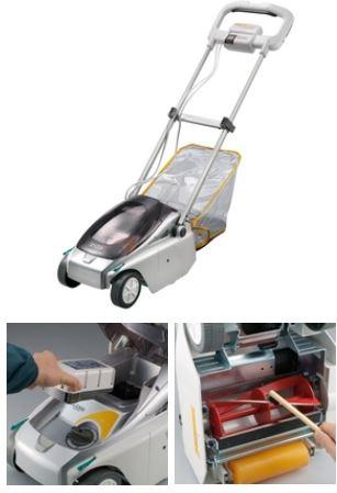 ###リョービ/RYOBI 充電式芝刈機 リール式【BLM-2300】~35坪程度 リール刃(3枚刃)