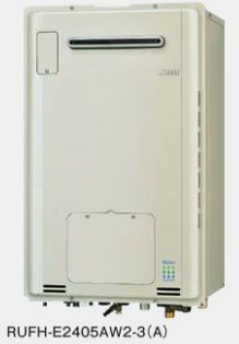 ###リンナイ ガス給湯暖房用熱源機【RUFH-E2405AW2-3(A)】 屋外壁掛型 フルオート ecoジョーズ 暖房能力11.6kW 床暖房3系統熱動弁内蔵 24号