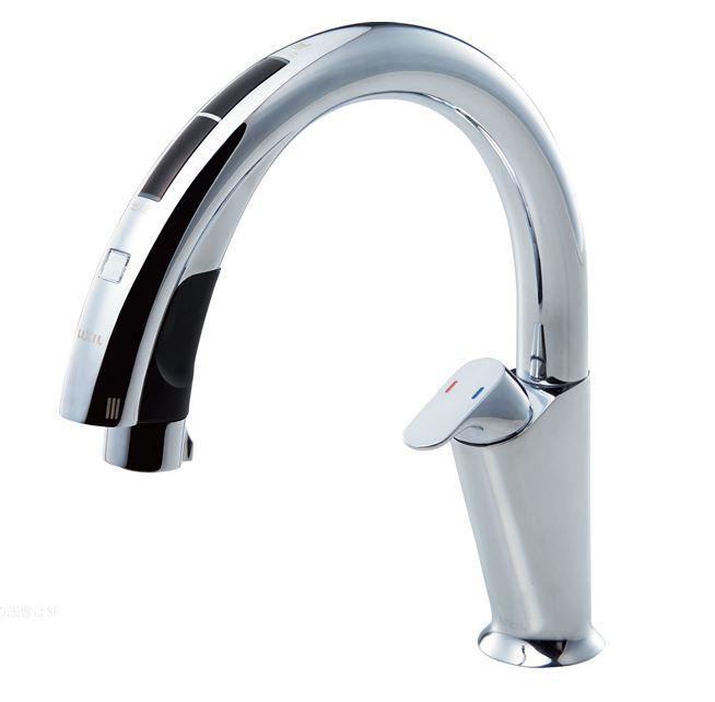 ≧INAX/LIXIL タッチレス水栓 ナビッシュ【JF-NA411SN(JW)】(ハンズフリータイプ)浄水機ビルトイン型 逆止弁 A10タイプ 寒冷地対応